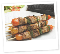 Lamb Skewers with Pesto