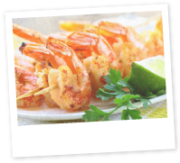 Roasted Prawns with Aioli